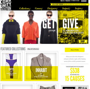 Homepage of CommunityCollection.com